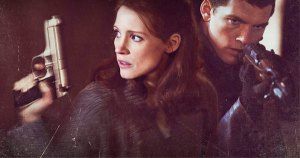 Rachel (तरुण)(Jessica Chastain) with David Peretz (Sam Worthington)