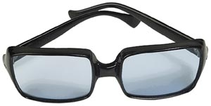 positive-parenting-black-sunglasses-with-blue-glass-old-style